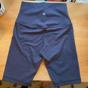 Lululemon Blue High Rise Biker Shorts NEW